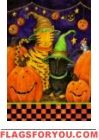 Halloween Cats House Flag