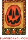 Primitive Pumpkin House Flag