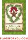 Christmas Barn Star Garden Flag