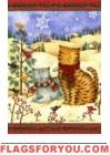 Cats in Scarves Garden Flag