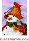 Woodland Snowman Garden Flag - 1 left