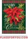 Christmas Poinsettias Garden Flag