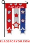 I Love America Applique Garden Flag