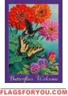 Butterflies Welcome Garden Flag