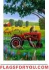 Tractor Critters House Flag
