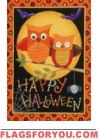 Happy Owl-oween House Flag
