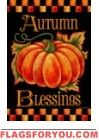 Autumn Blessings House Flag