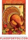 Happy Thanksgiving House Flag