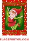 Christmas Elf Garden Flag