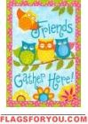 Owl Friends Garden Flag
