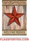 Rustic Star House Flag