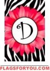 Gerbera Monogram D Garden Flag - 1 left
