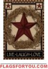 Star Wreath House Flag