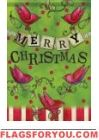 Christmas Red Bird Garden Flag
