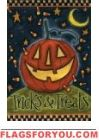 Tricks And Treats House Flag