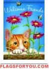 Curious Kitty Garden Flag