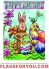 Easter Garden House Flag