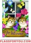Window Box Kitten Garden Flag