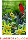 Songbird Welcome Garden Flag