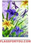 Beautiful Irises Garden Flag