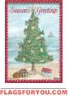 Coastal Christmas Tree House Flag
