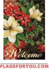 Holiday Flowers Garden Flag