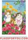 Spring Kittens House Flag