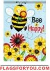 Bumble Bee Summer House Flag