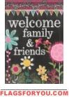 Chalkboard Welcome Garden Flag