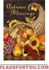 Cornucopia Blessings House Flag