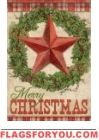 Rustic Christmas House Flag