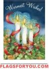 Christmas Candles Glitter Garden Flag