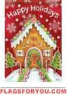 Gingerbread Holidays Glitter Garden Flag