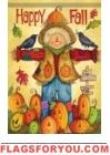 Happy Fall Scarecrow House Flag