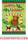 Holiday Reindeer Garden Flag