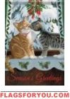 Feline Greetings Garden Flag