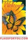 Monarch & Sunflower Garden Flag