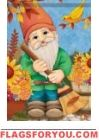 Autumn Gnome Garden Flag