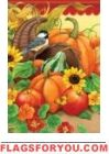 Harvest Chickadee Garden Flag