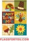 Thanksgiving Block Garden Flag