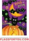 Trick Or Treat Bats House Flag