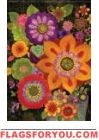 Florals In Fall Glitter Garden Flag