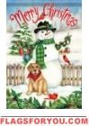 Snowman & Dog House Flag