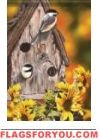 Autumn Chickadees Garden Flag