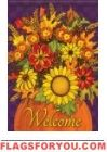 Fall For Flowers Garden Flag