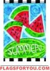 Summer Watermelons Garden Flag