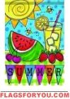 Summer Picnic Garden Flag