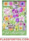 Flower Collage Garden Flag