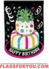 Birthday Cake Applique Garden Flag
