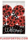 Ladybug Bright Applique Garden Flag